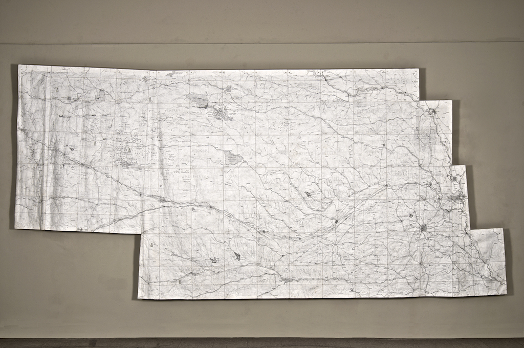Locator Map. 15' x 5'. Graphite on Tyvek.